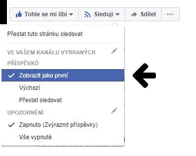 Facebook sledování